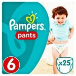 PAMPERS - ΠΑΝΕΣ ΒΡΑΚΑΚΙΑ ΝΟΥΜΕΡΟ 6 (16+ΚG) 25 ΤΕΜ