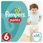 PAMPERS - ΠΑΝΕΣ ΒΡΑΚΑΚΙΑ ΝΟΥΜΕΡΟ 6(16+ΚG) 14 ΤΕΜ