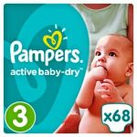 PAMPERS - ΠΑΝΕΣ ACTIVE BABY DRY NΟΥΜΕΡΟ 3 (5-9KG) 68 TEM