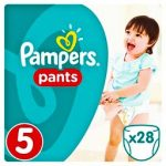 PAMPERS - ΠΑΝΕΣ BΡΑΚΑΚΙΑ ΝΟΥΜΕΡΟ 5(12-18 KG) 28 ΤΕΜ