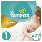 PAMPERS - ΠΑΝΕΣ PREMIUM CARE ΝΟΥΜΕΡΟ 1 (2-5 KG) 22 ΤΕΜ