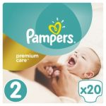 PAMPERS - ΠΑΝΕΣ PREMIUM CARE ΝΟΥΜΕΡΟ 2 (3-6 KG) 20 TEM