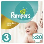 PAMPERS - ΠΑΝΕΣ PREMIUM CARE NΟΥΜΕΡΟ 3 (5-9 KG) 20 ΤΕΜ