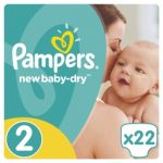 PAMPERS ACTIVE BABY DRY - ΠΑΝΕΣ ACTIVE BABY DRY ΝΟΥΜΕΡΟ 2 (3-6 KG) 22 TΕΜ