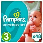 PAMPERS ACTIVE BABY DRY - ΠΑΝΕΣ ACTIVE BABY DRY NΟΥΜΕΡΟ 3 (5-9KG) 48 ΤΕΜ