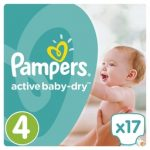 PAMPERS ACTIVE BABY DRY - ΠΑΝΕΣ ACTIVE BABY DRY NΟΥΜΕΡΟ 4 (8-14 KG) 17 ΤΕΜ