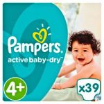 PAMPERS ACTIVE BABY DRY - ΠΑΝΕΣ ACTIVE BABY DRY NΟΥΜΕΡΟ 4+ (9-16 KG) 39 TEM