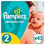 PAMPERS NEW BABY - ΠΑΝΕΣ ACTIVE BABY DRY NΟΥΜΕΡΟ 2 (3-6 KG) 43 TEM