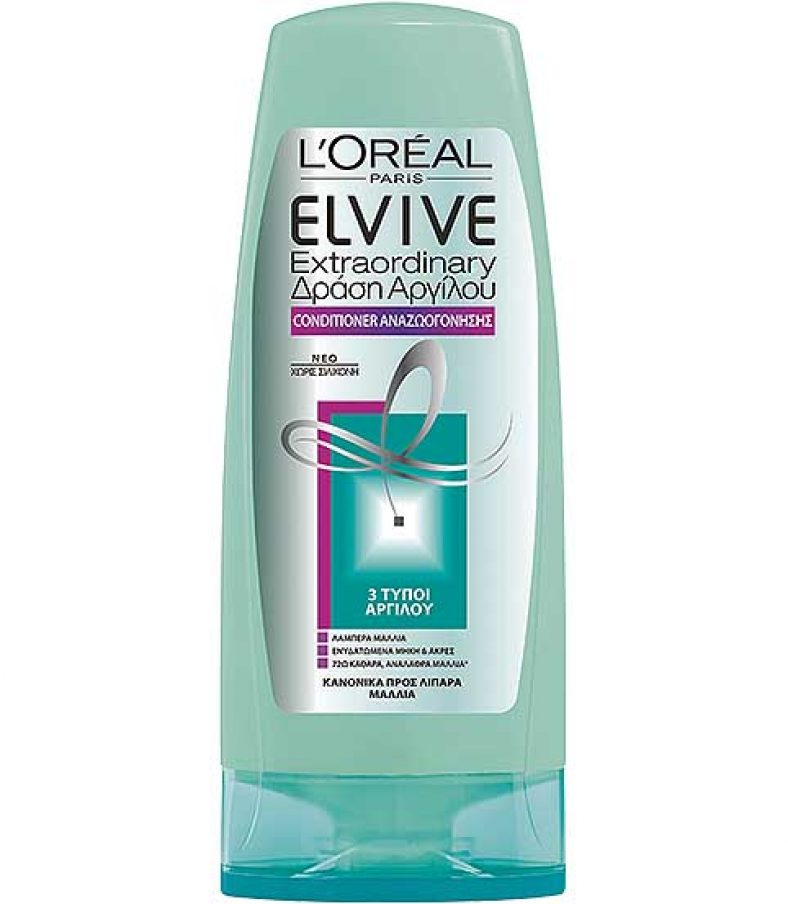 elvive-loreal-EXTRAORDINARY ΔΡΑΣΗ ΑΡΓΙΛΟΥ CONDITIONER-malliwn-lipara-traxeia-lampera-malia-ARGILE_