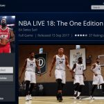 nba live 18 The One Edition - Playstation Store - Offer Price 9-99 euro 09-02-2018