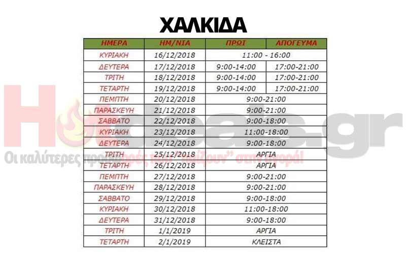 χαλκιδα-ωραριο-καταστηματων-χριστουγεννα-πρωτοχρονια-2018-ανοιχτα