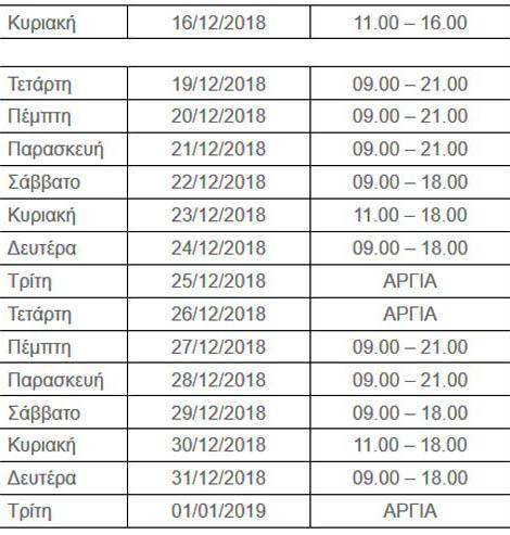 athina-anoixta-kyriakh-16-12-2018-anoixta-magazia-super-market