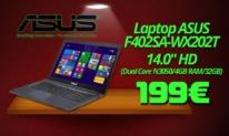 Laptop Asus F402SA-WX202T – 14.0″ HD (Dual Core N3050/4GB RAM/32GB) | Mediamarkt.gr | 199€