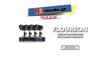 FLOUREON 1500TVL Waterproof Σύστημα Παρακολούθησης με 4 Κάμερες 1080p + Ανιχνευτή Κίνησης + LIVE σε Android+ Ειδοποίηση με Email    gearbest.com   48€