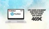 HP Pavilion 15-AW006NV A10-9600/6GB/SSD256GB | mediamarkt | 469€