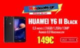 HUAWEI Y6 II Black | Smartphone 5,5 inches | (16GB/1.2GHz/13MP/Android 6.0 Marshmallow) | MediaMarkt | 149€