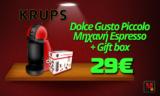 Καφετιέρα KRUPS NESCAFÉ® Dolce Gusto Piccolo Μηχανή Espresso + Gift box   Mediamarkt   29€