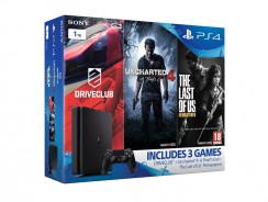 Sony PlayStation 4 1TB Slim | Bundle with games: Uncharted 4 + The Last of Us + DriveClub | amazoncouk | 311€