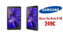 SAMSUNG Galaxy Tab Active 8 (SM-T365NNGAEUR)  | mediamarkt | 249€