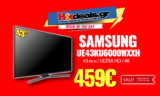 SAMSUNG UE43KU6000 WXXH 4K | Τηλεόραση Smart 43″ | Ultra HD + HDR | MediaMarkt | 459€
