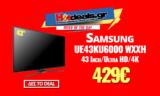 SAMSUNG UE43KU6000 WXXH | 43″ Smart 4K Τηλεόραση | MediaMarkt | 429€
