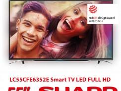 Τηλεόραση 55″ SHARP LC55CFE6352E Smart TV LED | Full HD 400Hz WIFI | [mediamarktgr] | 450€