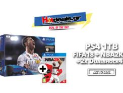 SONY PS4 1TB + NBA 2K18 + 2o Dualshock 4 + FIFA 18 | MediaMarkt | 359€