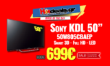 "Sony KDL 50W805CBAEP | Τηλεόραση 50"" Smart 