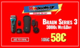 Braun Series 3 ProSkin 3080s Wet&Dry Ξυριστική Μηχανή | amazon.co.uk | 58€