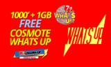 Cosmote Whats Up 1000′ Λεπτά ΔΩΡΕΑΝ και 1GB Internet | Δώρα Whatsup Cosmote 1000  | ΔΩΡΟ/FREE