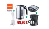 Public Primo Φοιτητικό Πακέτο 4 Ηλεκτρικές Συσκευές | Βραστήρας – Φραπεδιέρα – Καφετιέρα – Τοστιέρα | Public.gr | 69.90€