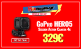GoPro Hero5 Session WiFi Action Camera 4K Αδιάβροχη | Δώρο Θήκη | public.gr | 329€