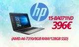 "HP 15-BA071ND Hewlett Packard LAPTOP 15.6"" (AMD A6-7310/8GB RAM/128GB SSD) 