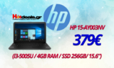 Laptop HP 15-AY003NV (i3-5005U/4GB/256GB/15.6) | mediamarkt.gr | 379€