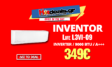 AirCondition INVENTOR Life L3VI-09 | Κλιματιστικό με Iονιστή | 9000BTU / Inverter / A+++ | mediamarktgr | 349€