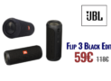 Αδιάβροχο Φορητό Ηχείο JBL Flip3 Black Edition Bluetooth | mediamarkt | 59€