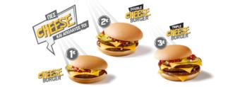 McDonalds Cheeseburger με 1€, 2€ ή 3€ | Προσφορά για Μονό, Double ή Triple Cheesburger @McDonalds | 1-2-3€