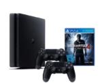 SONY PlayStation 4 (1TB, Slim) μαζί με 2 Χειριστήρια DualShock 4 + Uncharted 4 | [amazon.de] | 328€