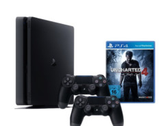 SONY PlayStation 4 (1TB, Slim) μαζί με 2 Χειριστήρια DualShock 4 + Uncharted 4 | [amazon.de] | 328€