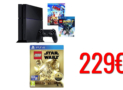 Sony PlayStation 4 500GB | + Lego Batman 3: Beyond Gotham + The Lego Movie [Blu-ray + UV Copy] + Lego Star Wars the Force Awakens Deluxe Edition | amazoncouk | 229€