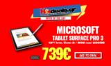 TABLET Microsoft SURFACE PRO 3 |  Full HD 12 inch Intel Core i5 8GB 256GB WIFI PRO | MediaMarkt | 739€