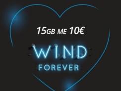 Wind GIGAFULL 15GB με 10€ – Wind Καλοκαιρινή Προσφορά 15GB για Συμβόλαια wind