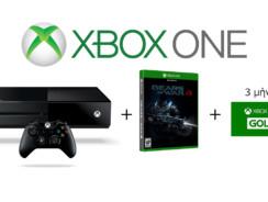 Microsoft Xbox One   1TB & Gears of War 4 & Xbox Live Gold Συνδρομή 3 Μηνών   Public   199€