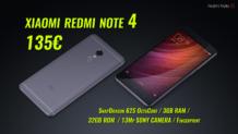 XIAOMI Redmi Note 4 Pro Smartphone Κινητό   5″ Inch OctaCore (3GB RAM / 32GB / 13MP)   Banggood   135€