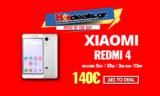 XIAOMI Redmi 4 Smartphone Κινητό 5″ Inch | OctaCore (3GB RAM / 32GB / 13MP) DUAL SIM | Gearbest | 140€